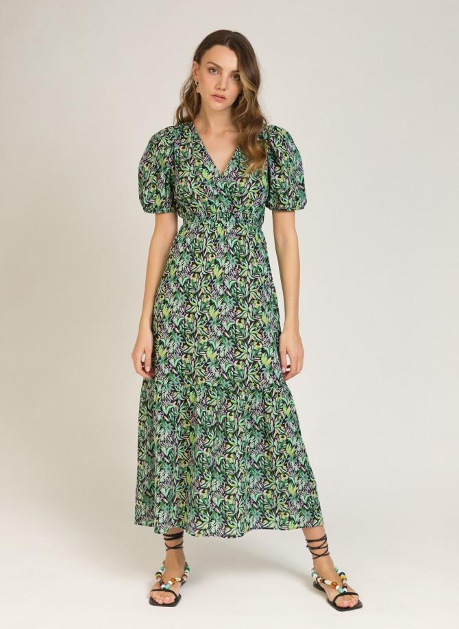 Cotton printed long dress MAXENCE