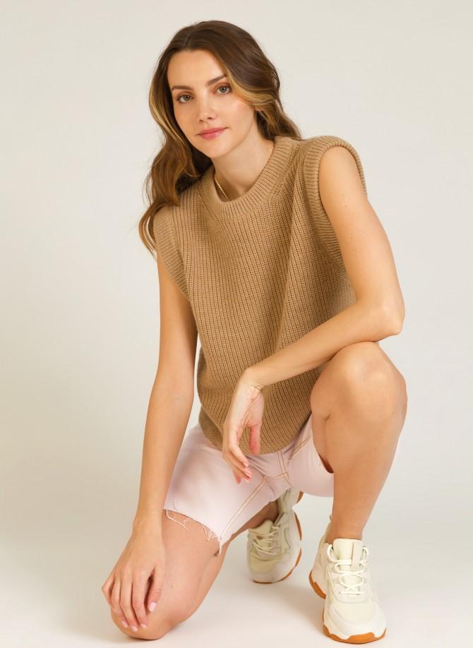 Plain sleeveless jumper LAMAZA