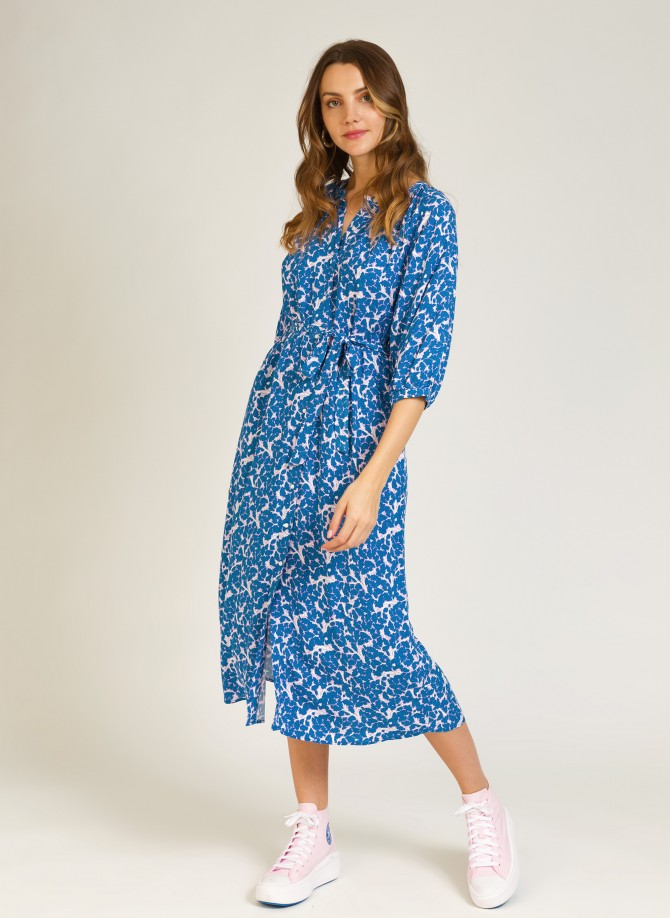 Long buttoned dress MARCELLA