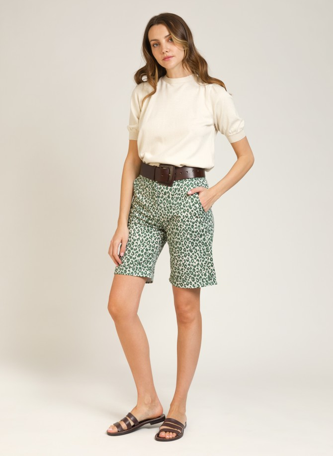 Bermuda shorts in printed cotton PALMIER