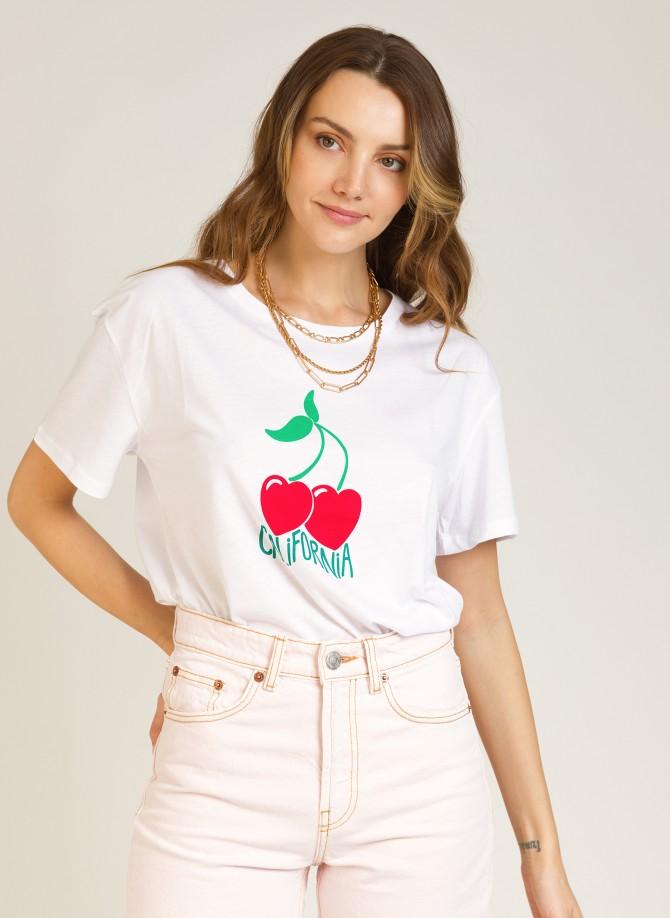 Printed cotton T-shirt TECALI