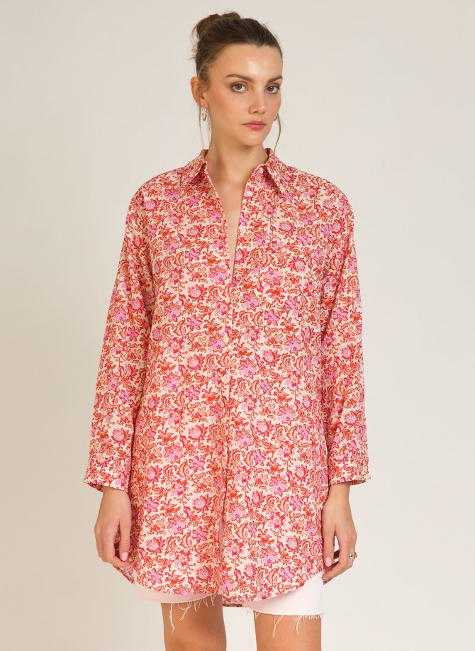Short shirt-like dress in...