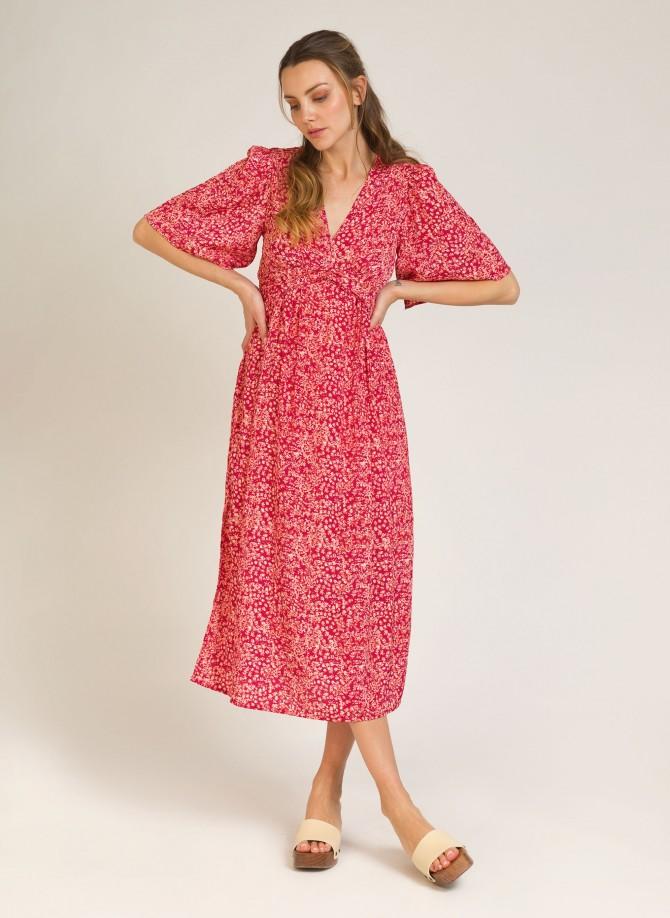 Printed long dress OFELIE