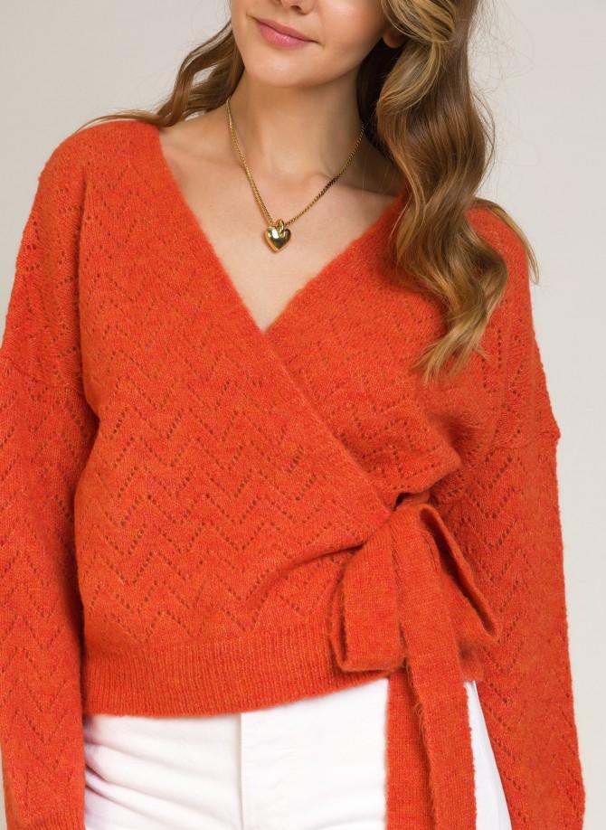 Knit wrap cardigan LENINON