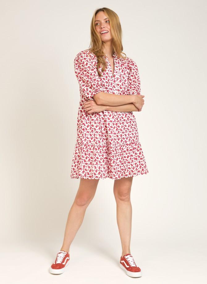 Cotton ruffled short dress...