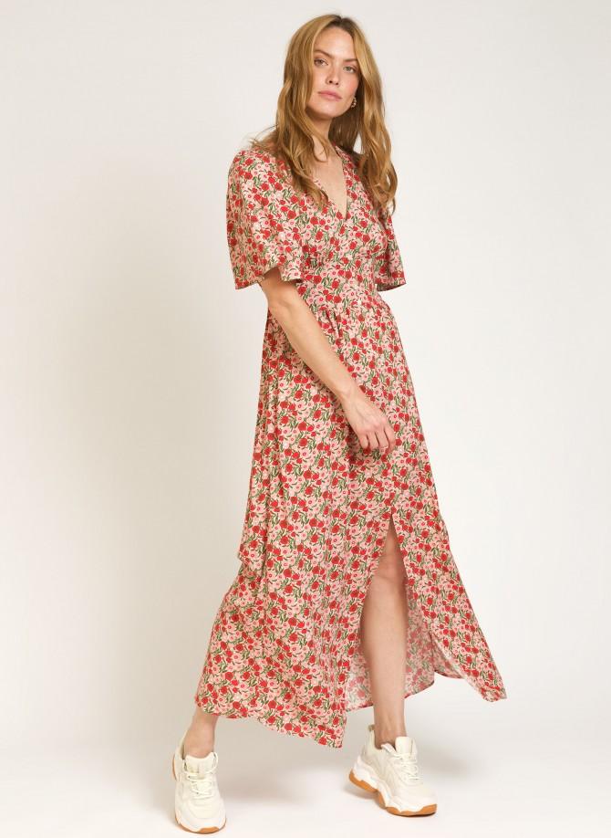Printed long dress MACEO