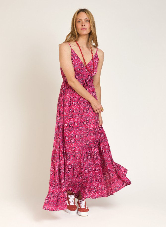 Long dress with thin straps ORPHEE