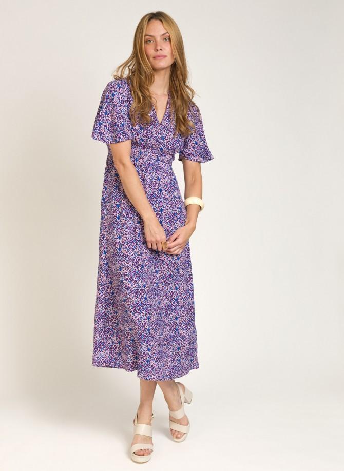 Long flowing printed dress...