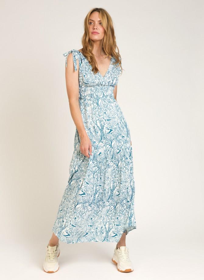 Long flowing printed dress  MARYSOL