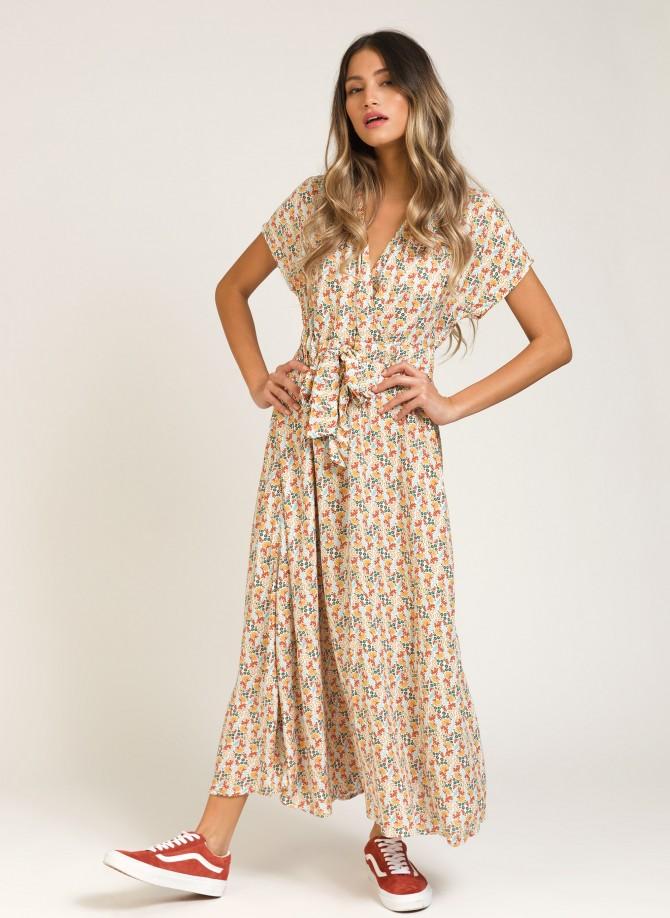 Printed long dress MAMBO
