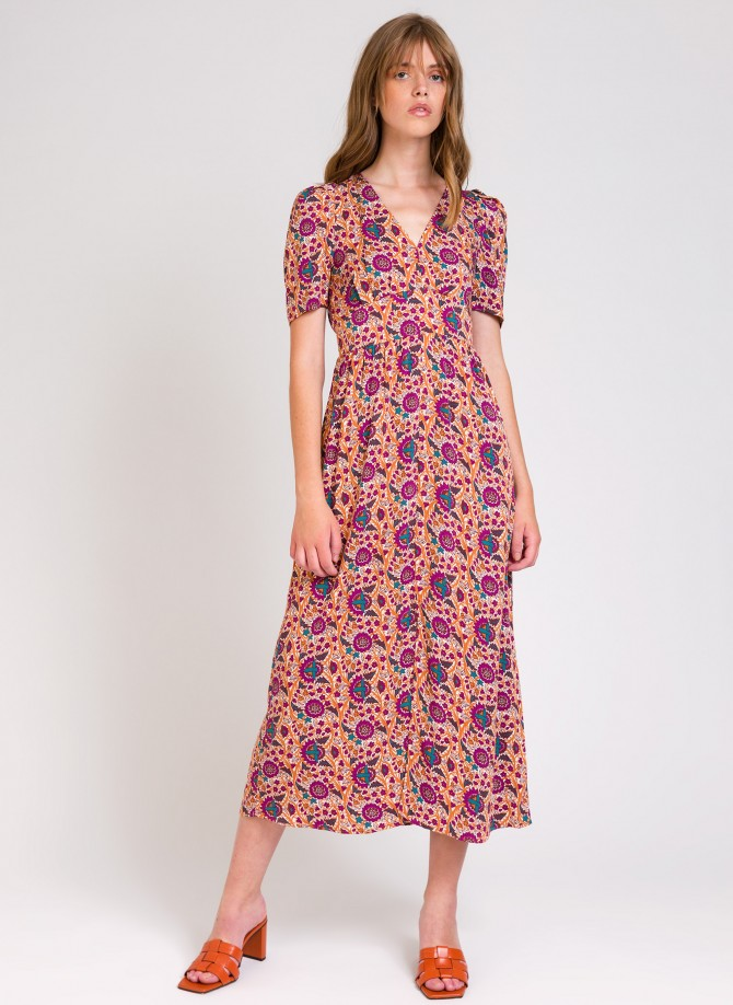 MAELIZ long flared dress