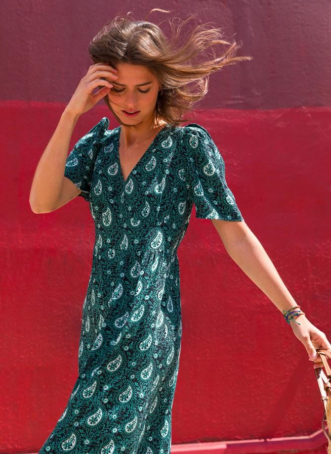 MAELIZ VL long flared dress