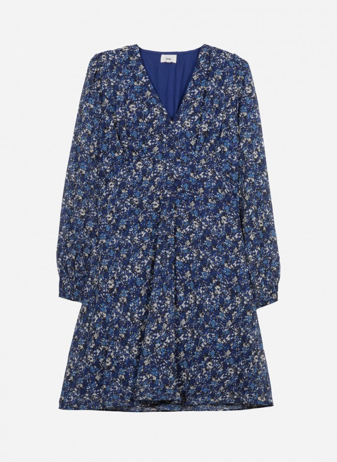 Printed short dress with...
