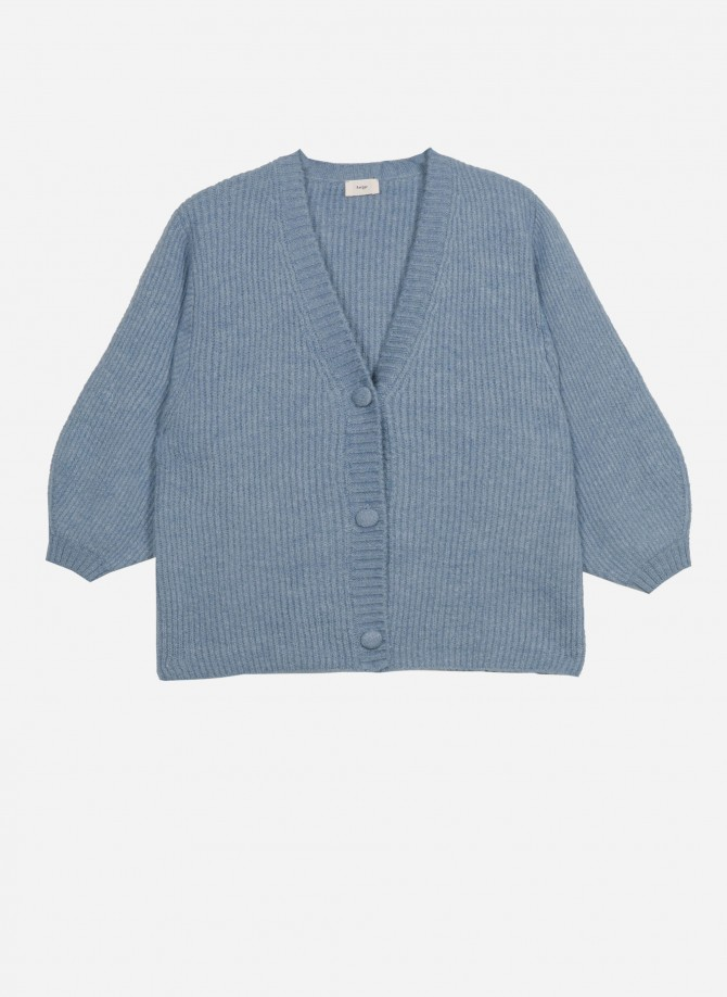 LEVEN knitted short cardigan