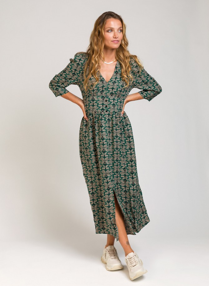 Printed midi dress MACEA