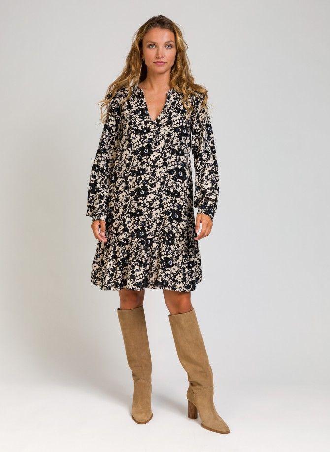 Loose-fitting short dress...
