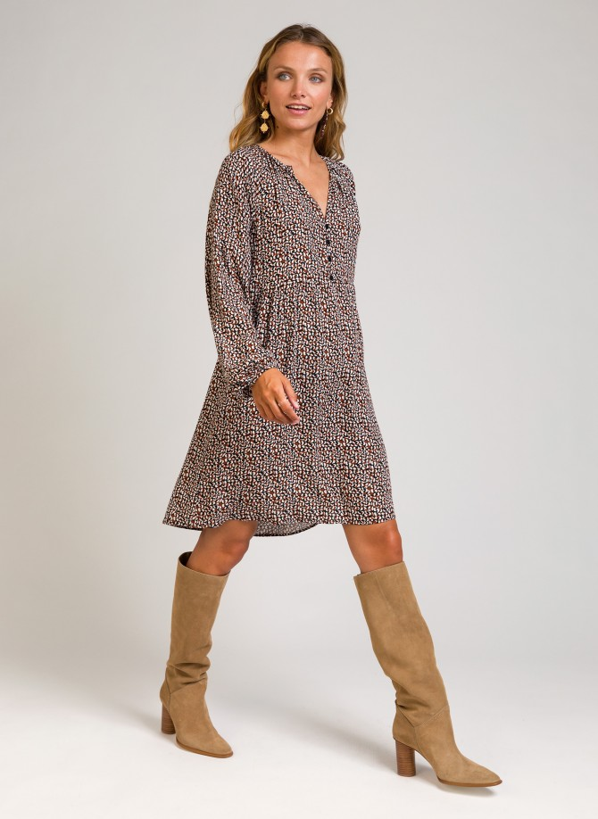 Short dress with lurex...