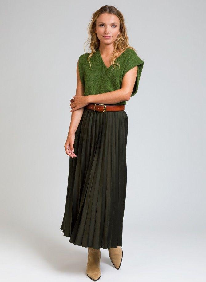 JACOME mid-length pleated skirt