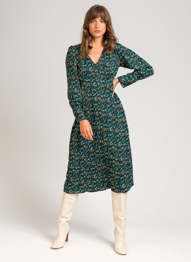 Long flared dress ODELINE