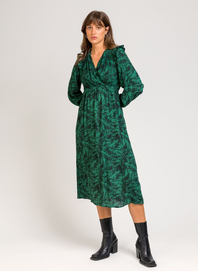 Printed midi dress MALORINE VL