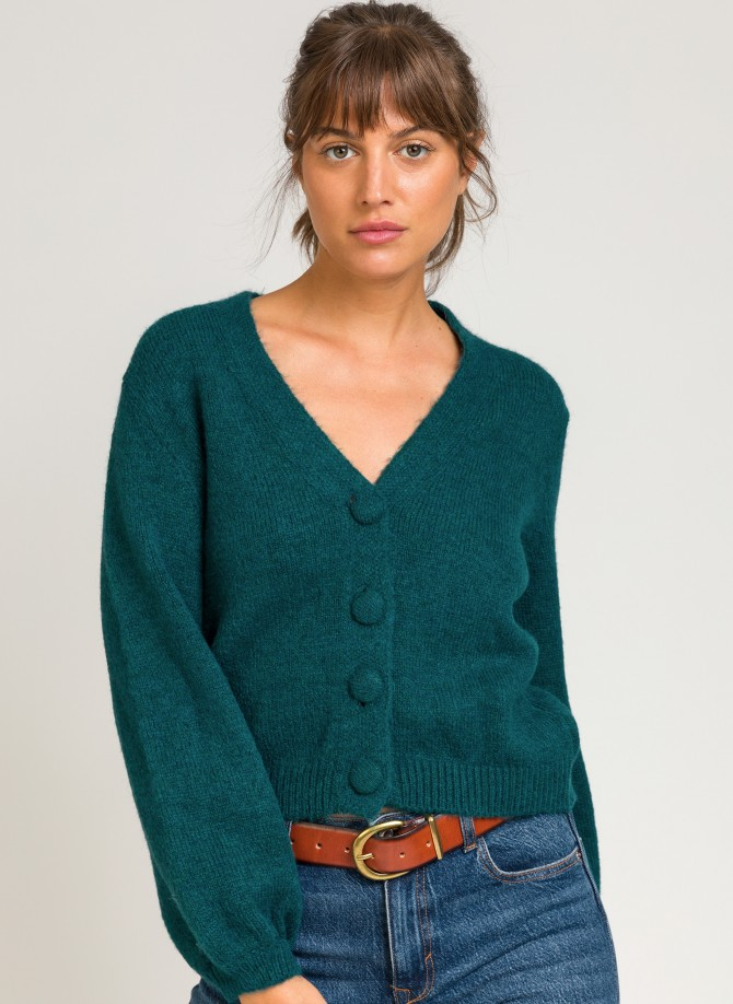 Short cardigan with buttons...