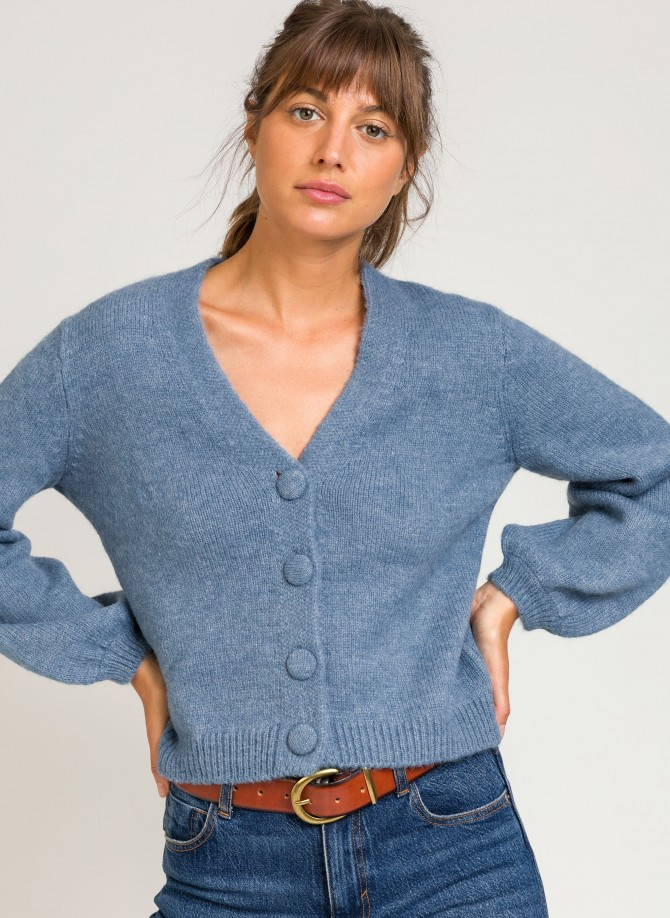 Short cardigan with buttons LEMINI