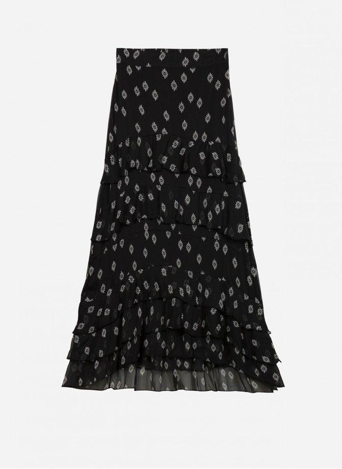 Long skirt with ruffles...