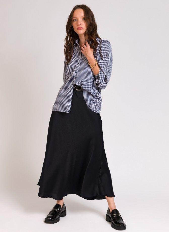 JACOTTE satin mid-length skirt