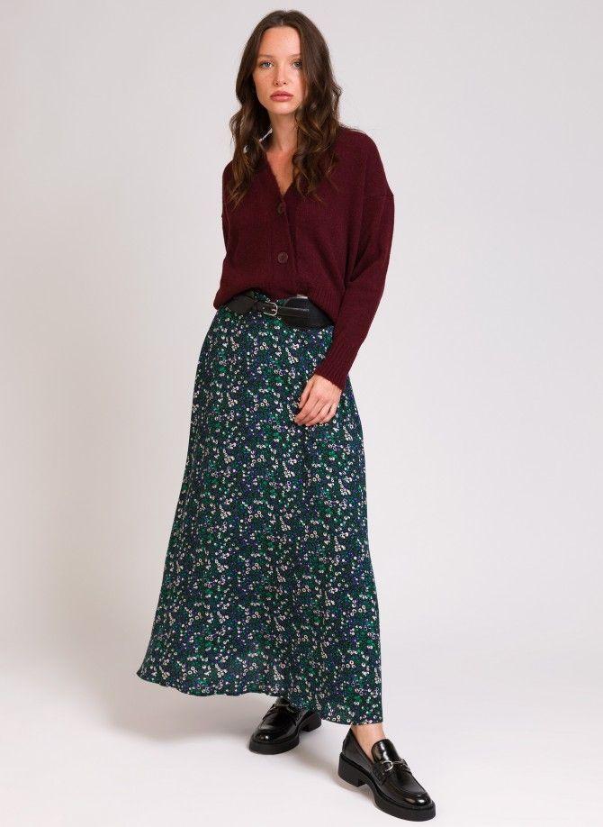 Mid-length skirt in viscose...