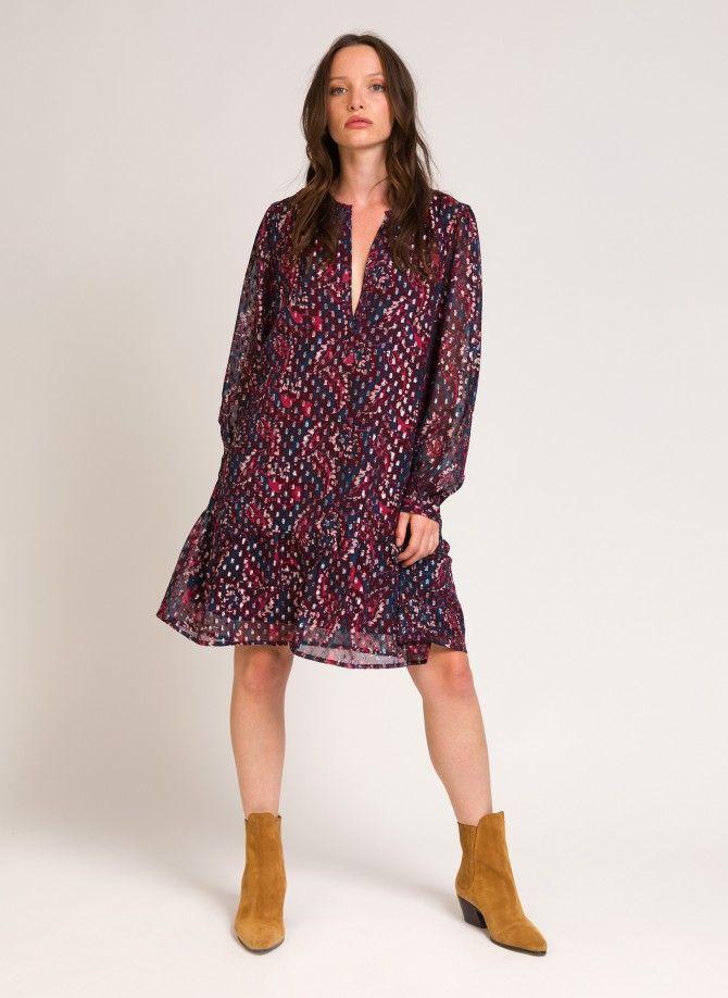 Short printed dress OKSANA
