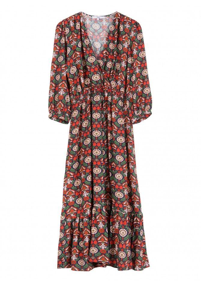 robe maxi imprimée - FEMOON