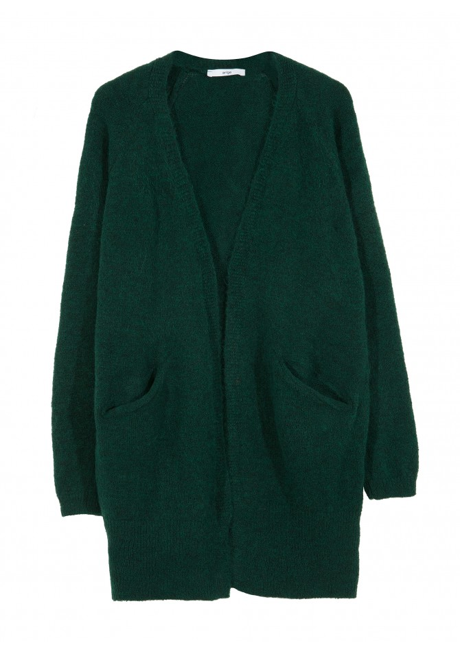 LEMER -Cardigan coat mi long à poches