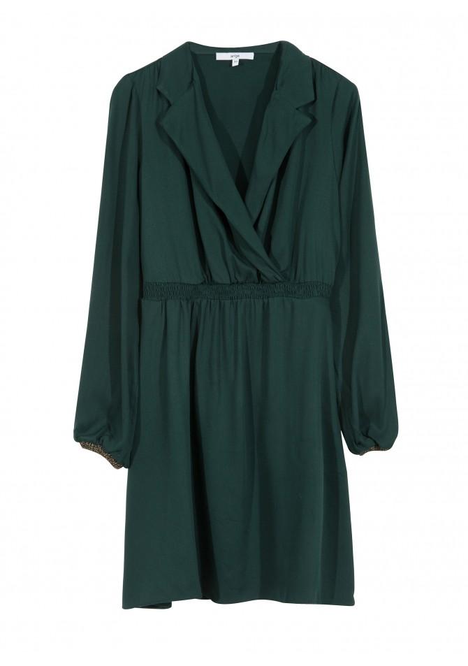 FEE - Robe courte col chemisier masculin - ANGE