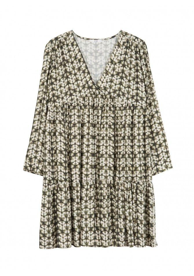 FELIXIA - Robe courte en viscose imprimee