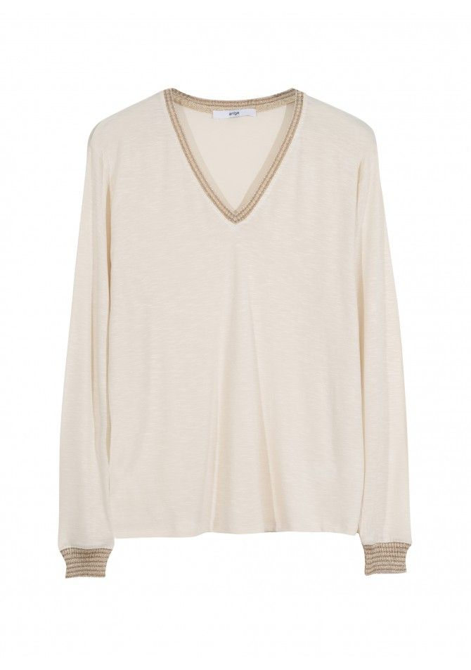TANGER - Long sleeved t-shirt gold details