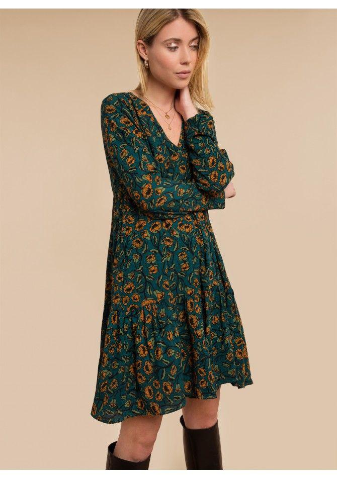 FELIXIA - Long sleeves print dress
