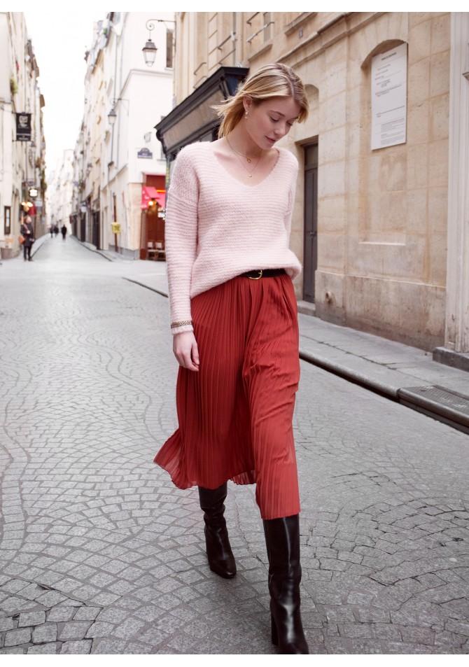 JELATINO - pleated midi skirt
