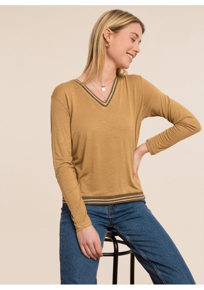 TROY - Long sleeved t-shirt striped details
