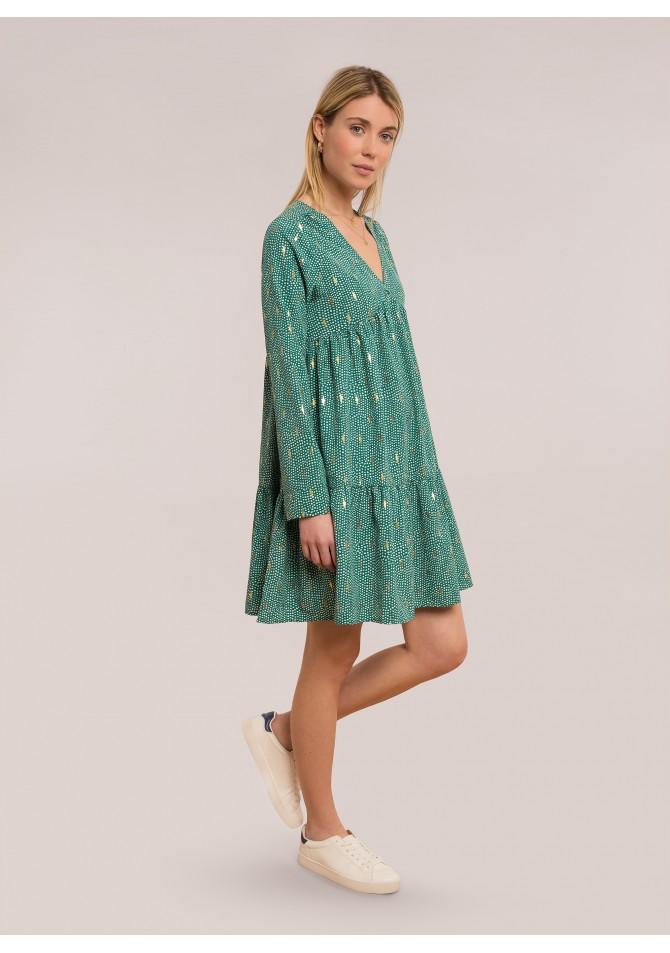 FELIXIA IMP B - Long sleeves foil print dress
