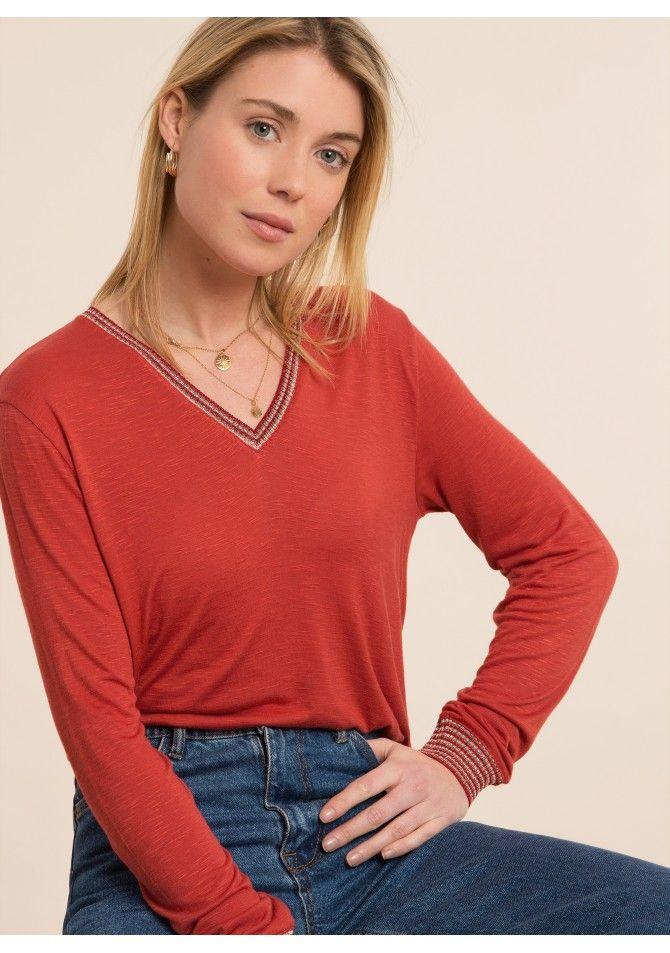 TANGER - Long sleeved t-shirt gold details