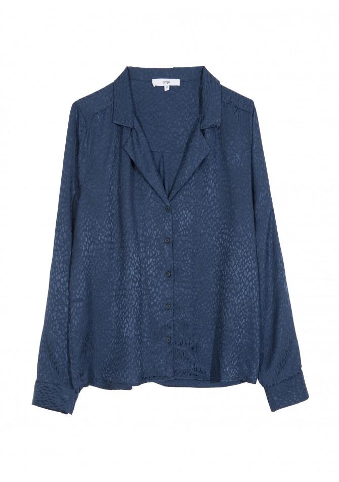 BASTIA UNI - Animal watered print shirt - ANGE