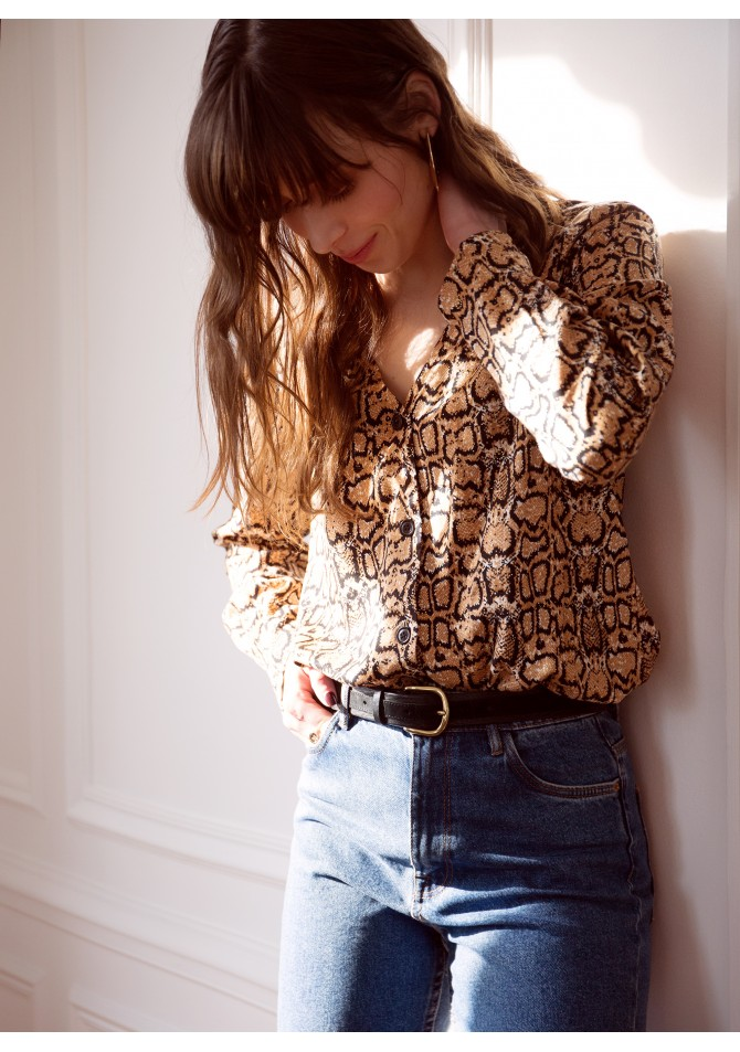 BANORA IMP - Long sleeves animal blouse - ANGE