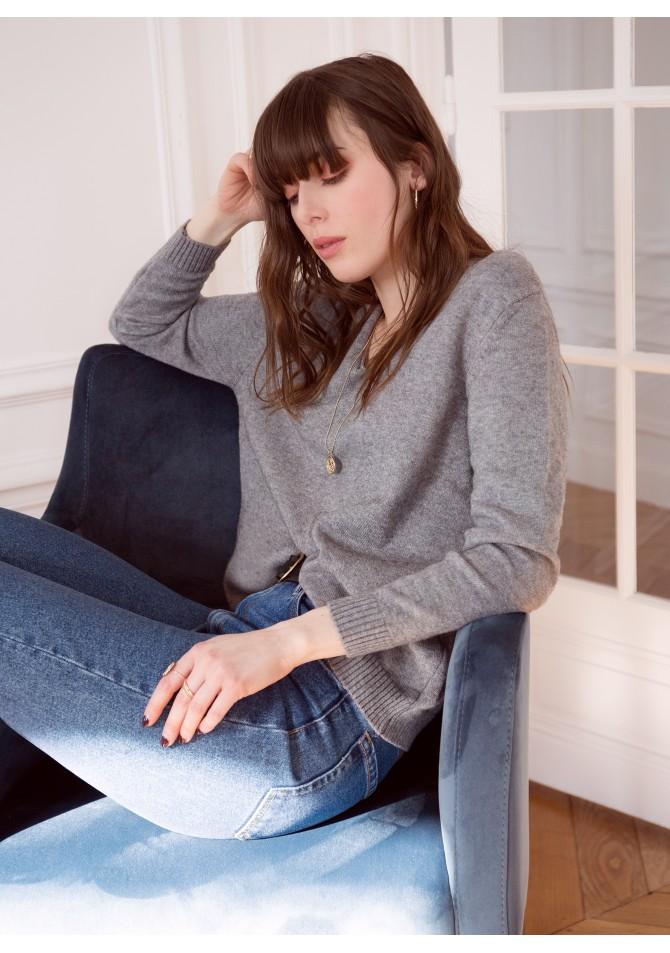 LEJET - V-neckline light knitwear jumper - ANGE