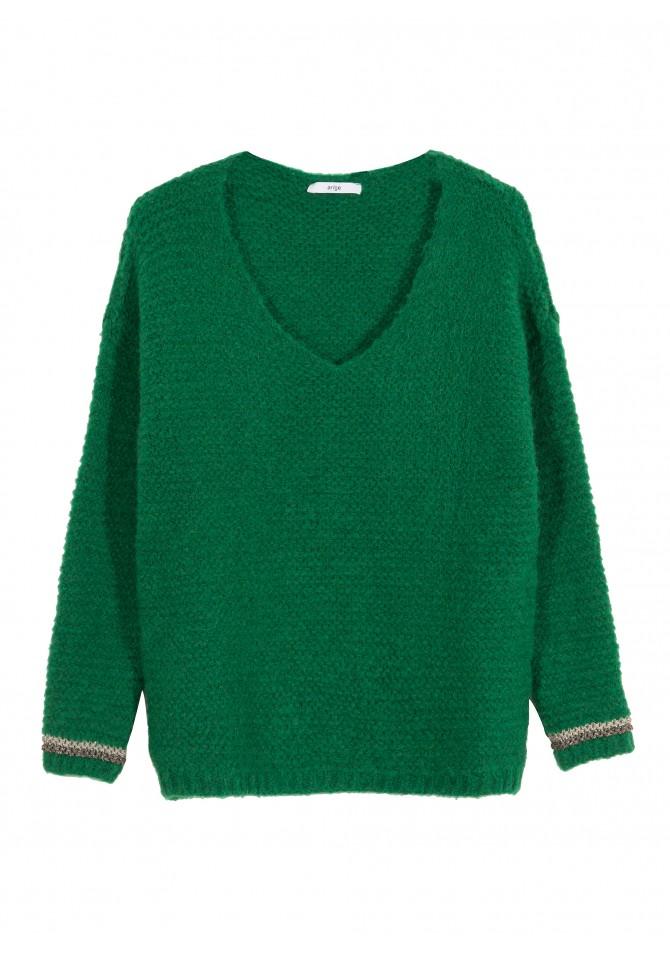 LEMALO -V-necklace chunky jumper