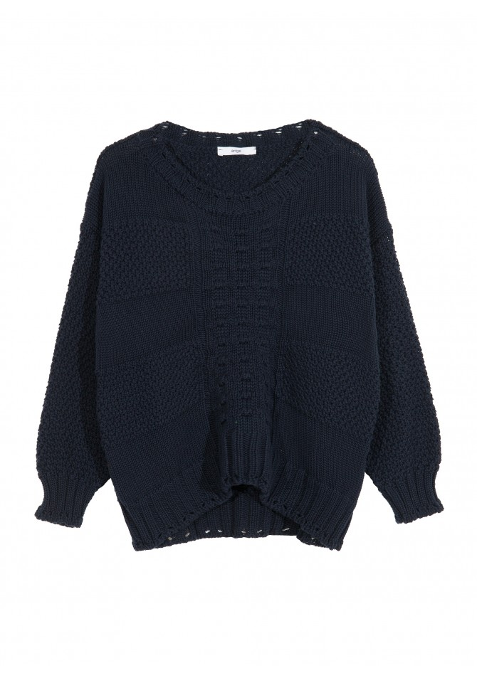 LEPOWER - Short cut patterned knit jumper - ANGE