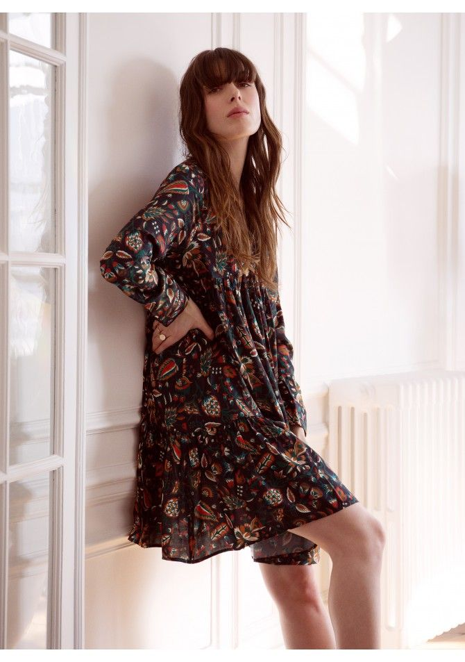 FELIXIA - Long sleeves print dress