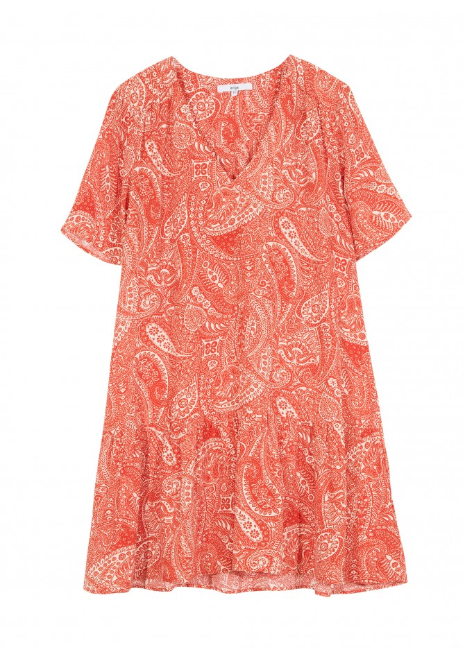 FAUNE-MC - Short cut dress with exclusive pattern - ANGE