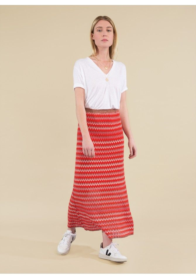 LAKOKO - Long light knit skirt - Reflect X Venezia - ANGE