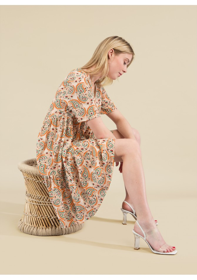 FELIXIA-MC - Short sleeves print dress - ANGE