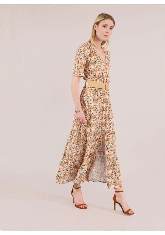 FESUN36 -Maxi slip printed dress - ANGE